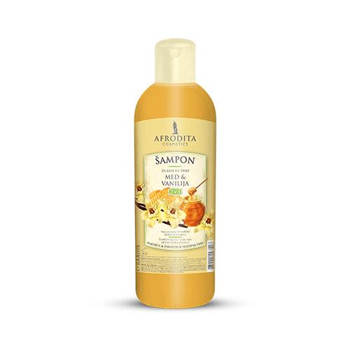 Afrodita Šampon za lase in telo - med in vanilija