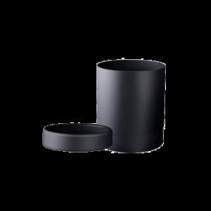 Marplast Soft Touch okrogli koš za smeti z obročem 13l črni
