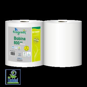 Paperblu industrijske brisace ecogreen bobina 800