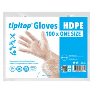 tipitop hpde rokavice za enkratno uporabo prozorne
