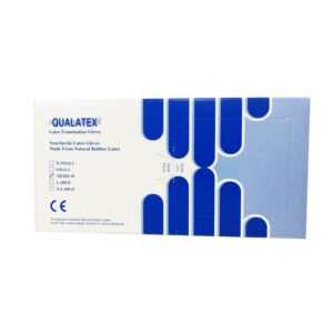 qualatex latex rokavice pudrane 100 kos